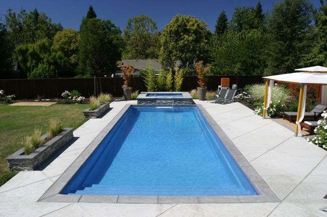 Inground rectangle classic pools google search for 16x32 pool design