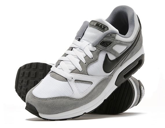 mens nike white & blue air max span trainers on biggest