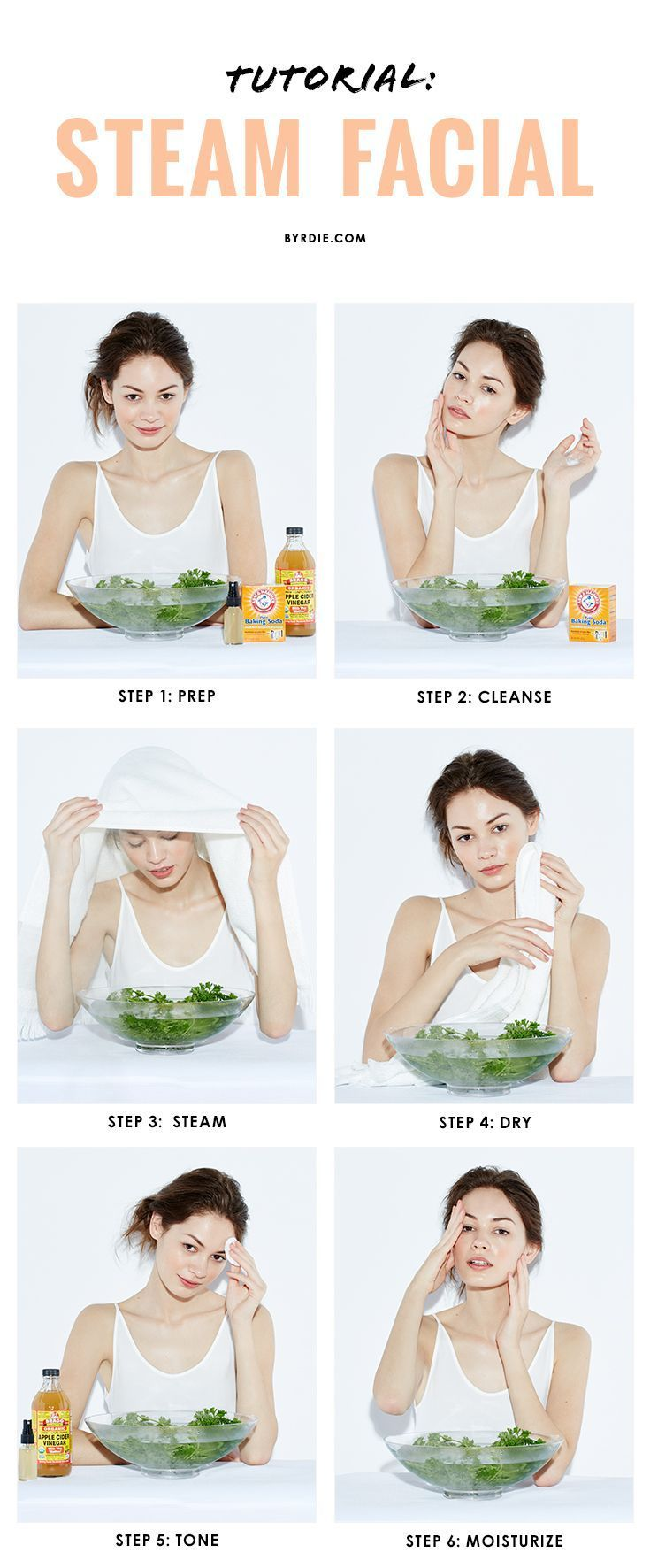 tutorial how to give yourself an all natural steam facial diy rh pinterest com