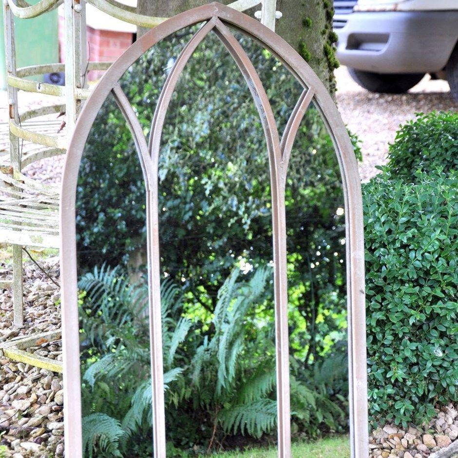 Dorchester metal mirror  Garden mirrors, Garden mirrors uk