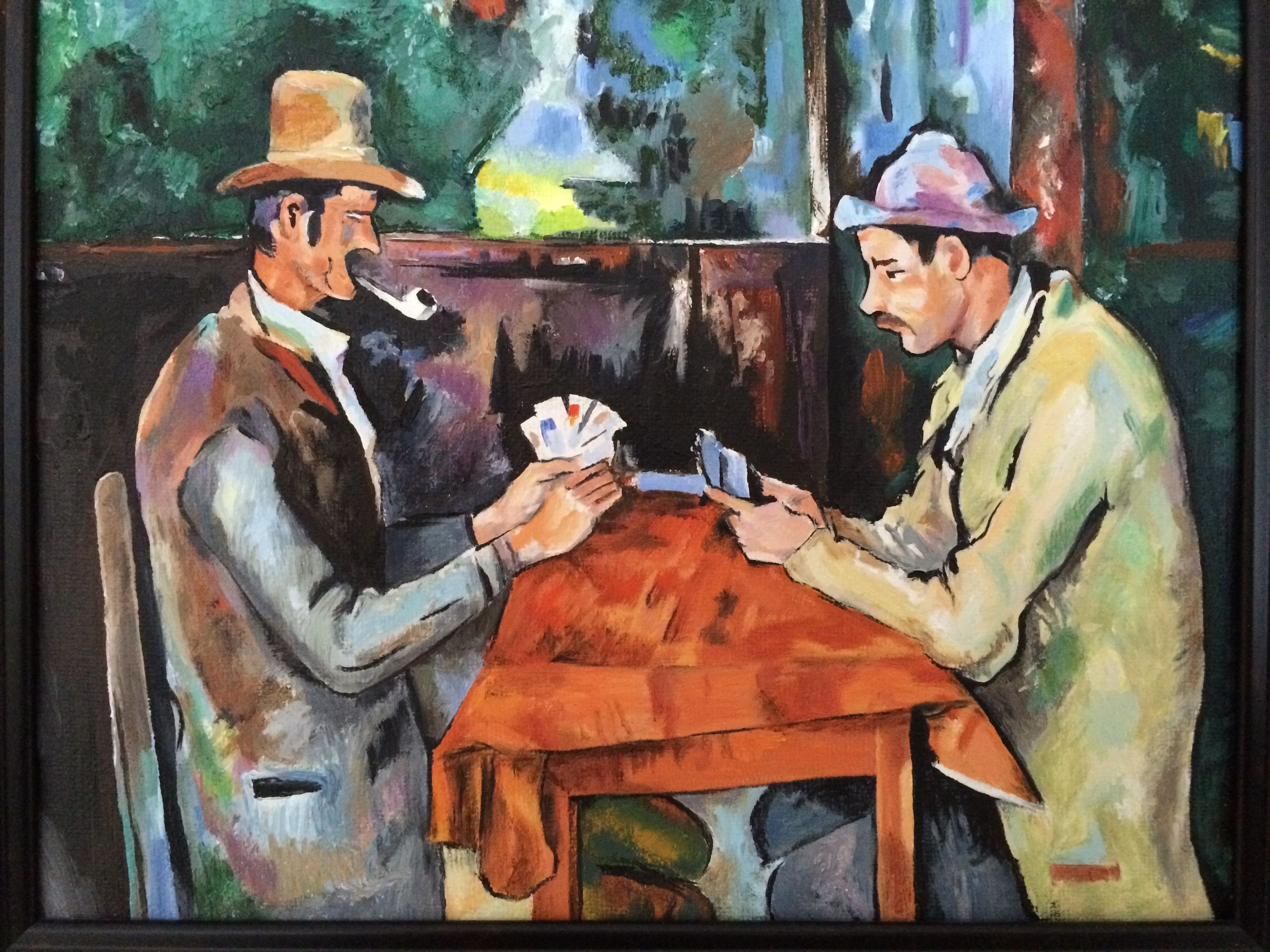 Cezanne Card Players Analysis Creativecardco - Who painted the card players