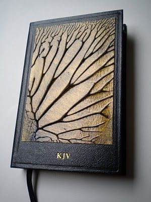 Reds Artist Cottage: Altered Book - Tree Painting on Small Bible SOLD