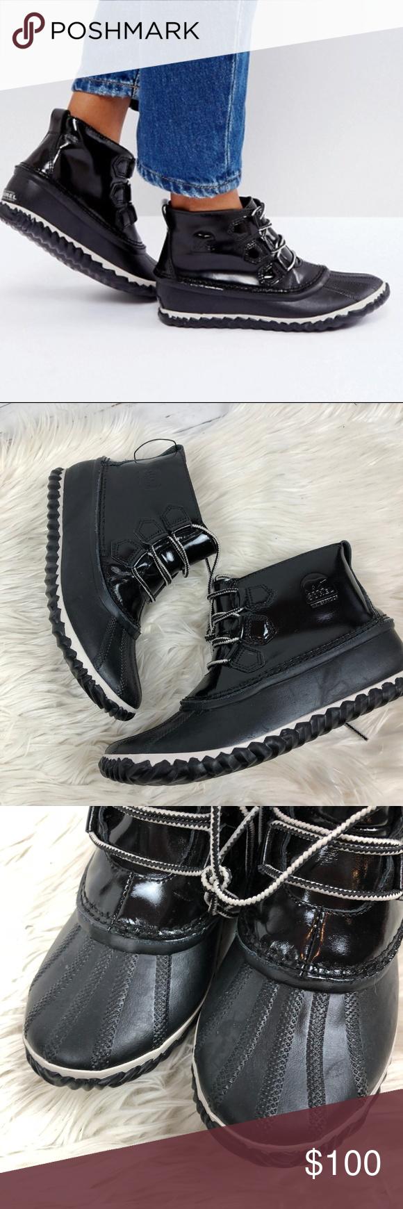 patent waterproof black boot