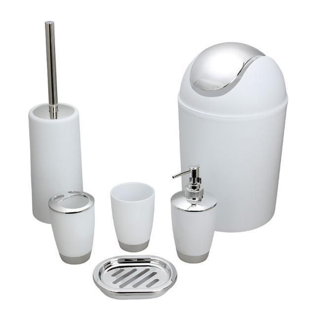 hot 6pcs set bathroom accessory soap dish dispenser storage rack rh za pinterest com