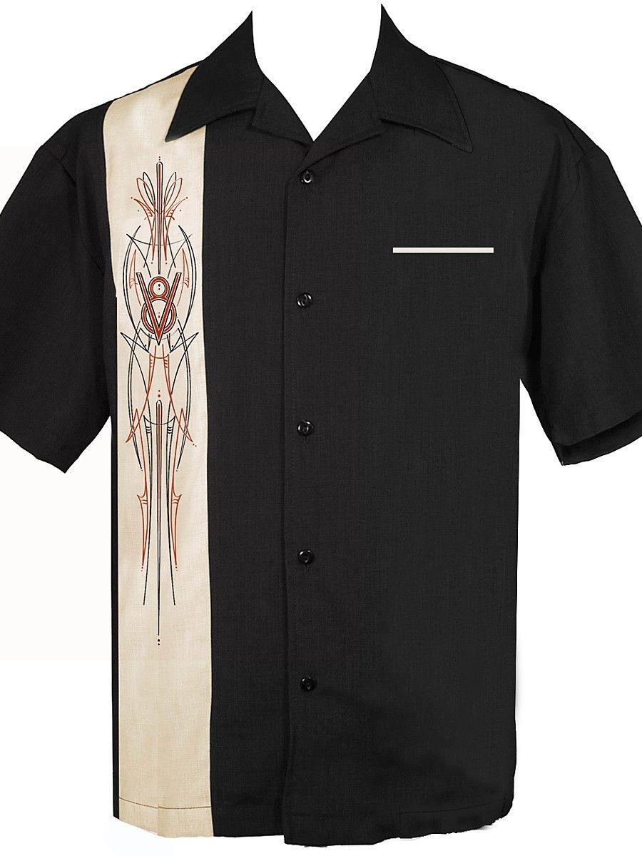 64815ec3da0 STEADY CLOTHING V8 Pinstripe - Bowling Shirt