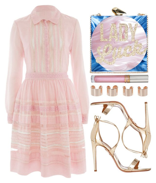 """""""Lady Luck"""" by preet111 ❤ liked on Polyvore featuring Temperley London, KOTUR, Maison Margiela, Stila and Aquazzura"""