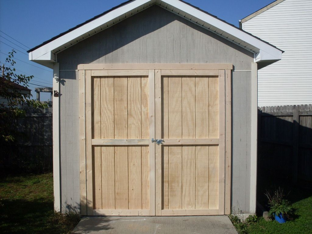 shed doors free how to video and article at wwmm shop a. Black Bedroom Furniture Sets. Home Design Ideas