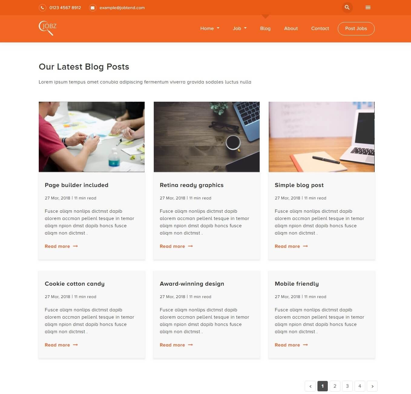 Jobtend Job Board Html Template Is Made For Job Seeker Head Hunter Job Market Service Other Related Niches In The Industry Th Job Board Marketing Jobs Job