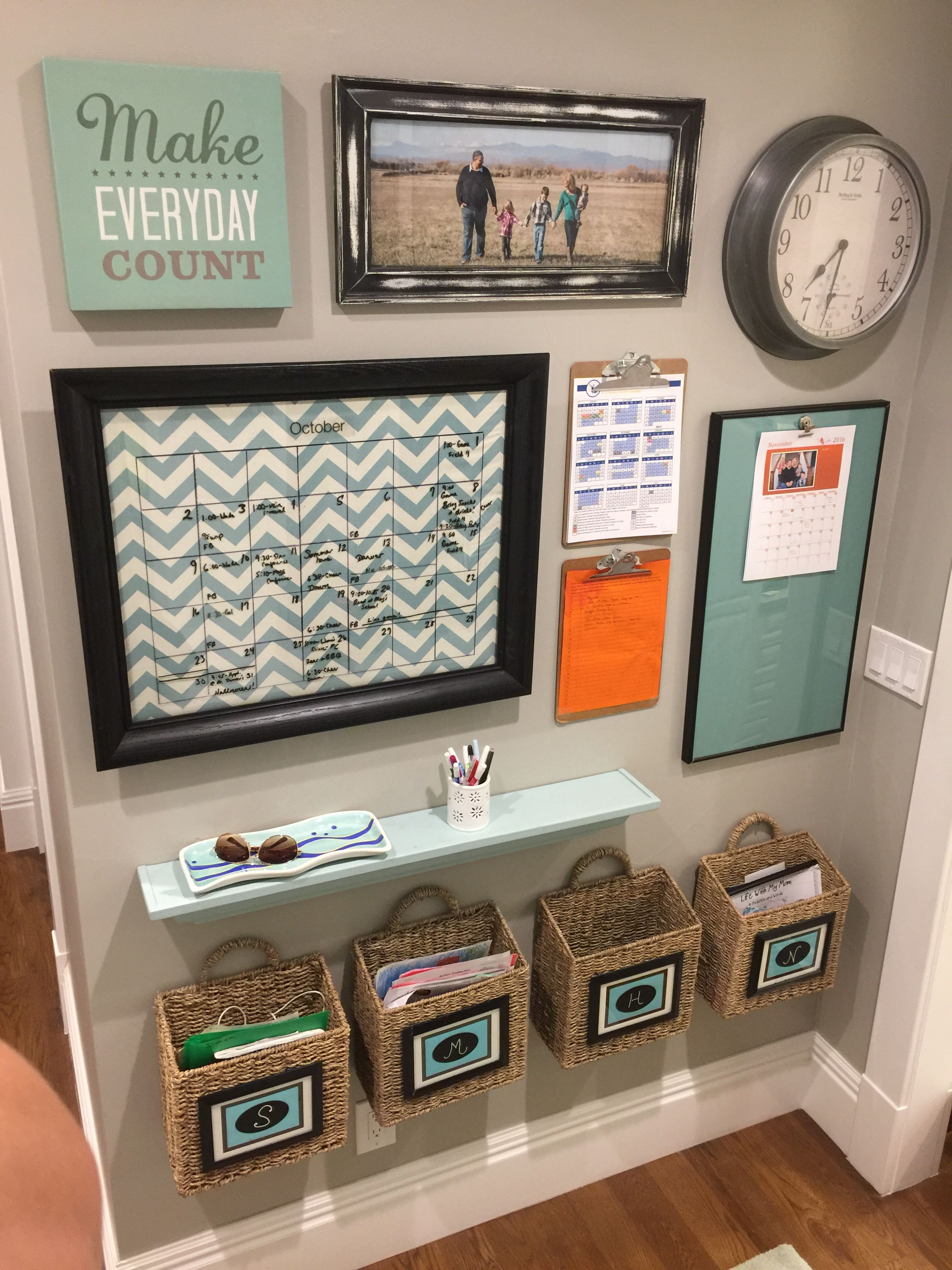 office wall organization ideas. Command Center Ideas - My Family Center: I Could Make This More Vertical And Put It Above Trash Can (need To Get A Cutter Can) Office Wall Organization S