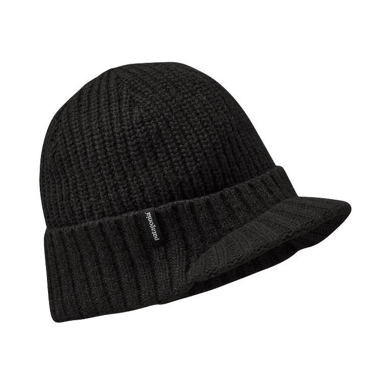 8afa857a Patagonia Brimmed Beanie - Black BLK | Clothes | Outdoor hats ...