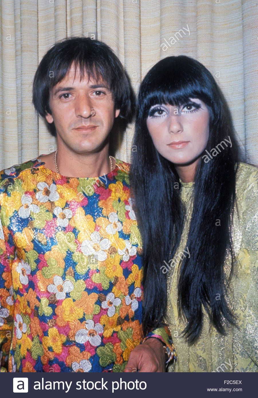 787847ce58e Download this stock image: SONNY AND CHER US vocal duo about 1966 - F2C5EX  from Alamy's library of millions of high resolution stock photos, ...