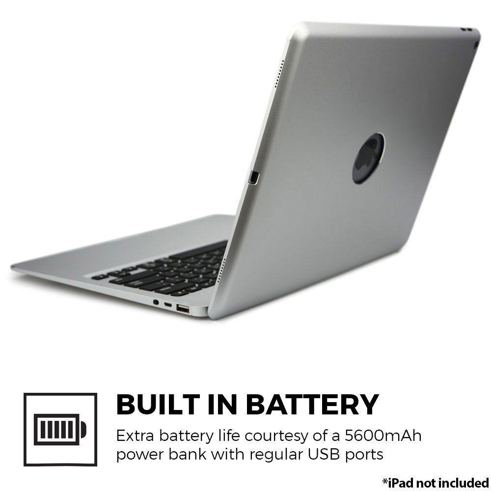 For Ipad Pro 12 9 2017 Bluetooth Keyboard Case Aluminum Keyboard Folio Case Cover 5600 Mah External Keyboard Case Bluetooth Keyboard Case Bluetooth Keyboard