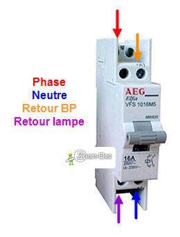 Montage Cablage Branchement D Un Telerupteur Et Boutons Poussoirs Comment Brancher Contacteur Electrique Electricite Schema Installation Electrique Maison