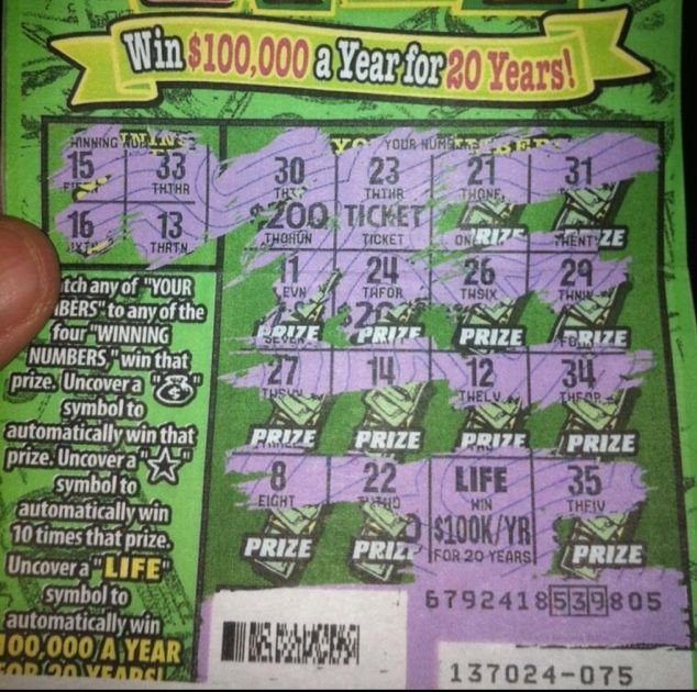Wow! I always wondered what a winning lottery ticket looked like. :(