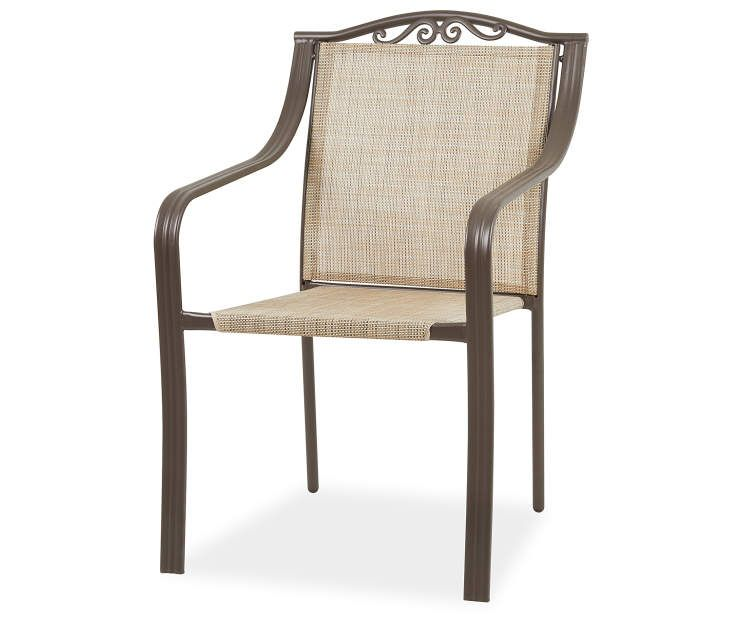 wilson fisher huntington sling stacking outdoor dining chair at rh pinterest com