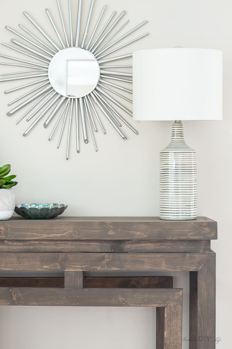 how to build a diy ballard designs inspired console table do it rh pinterest co uk