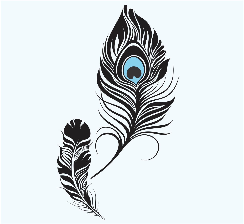 Feathers Tribal Design Circle Car Vinyl Sticker SELECT SIZE
