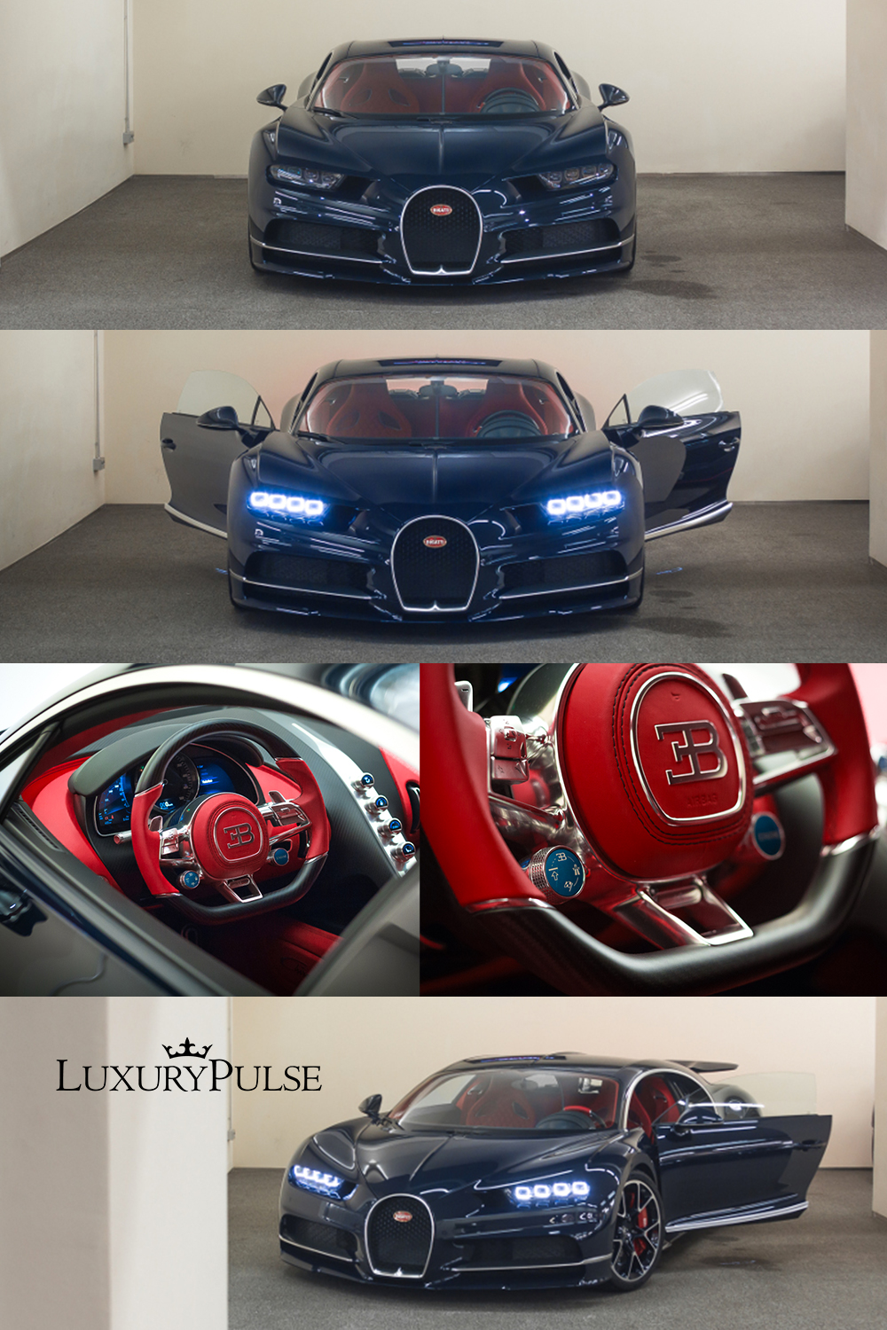 Bugatti Chiron Full Carbon BLUE ROYAL - SEMCO CARS - Germany