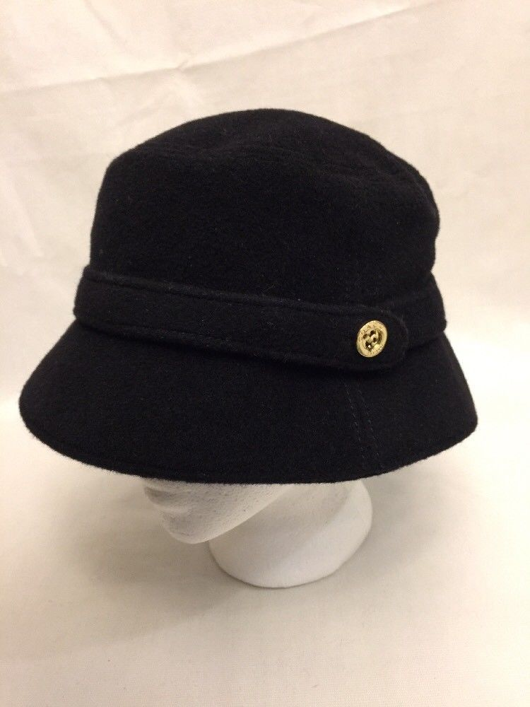 cd296b6b43174 New COACH Black Signature Bucket Hat Womens Sz P S Wool Blend NWOT  fashion   clothing  shoes  accessories  womensaccessories  hats