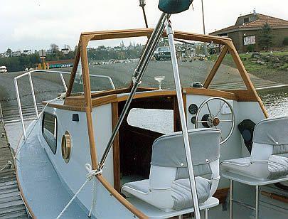 Custom wooden boat building 23′ Planing Dory interior photos