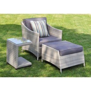 mia 3 piece rattan wicker outdoor furniture set beautiful outdoor rh pinterest com