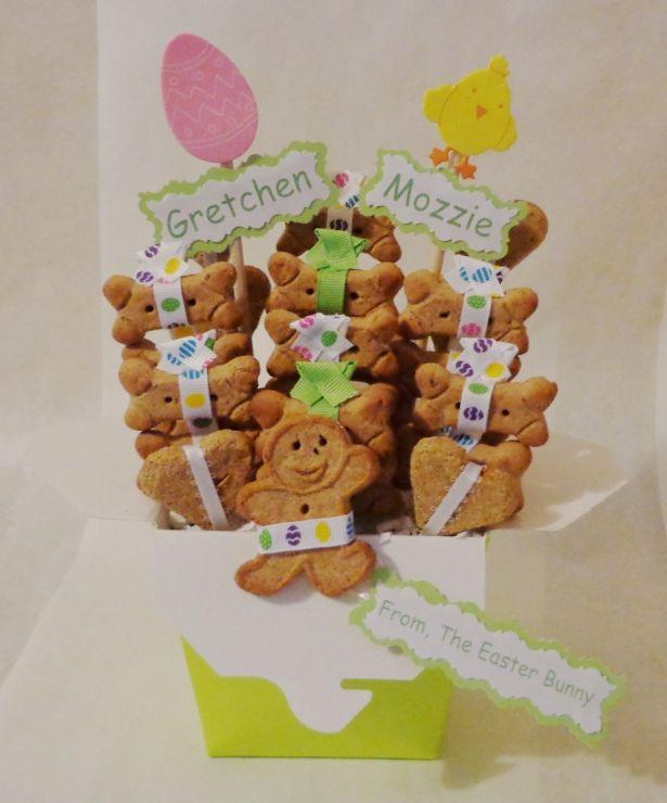 Easter dog biscuit treat dog gift basket available sizes small easter dog biscuit treat dog gift basket available sizes small medium or negle Images