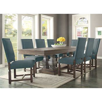 Parador 9Piece Dining Set  Fabric Costco $2700  Dining Room Alluring 9 Pcs Dining Room Set Inspiration