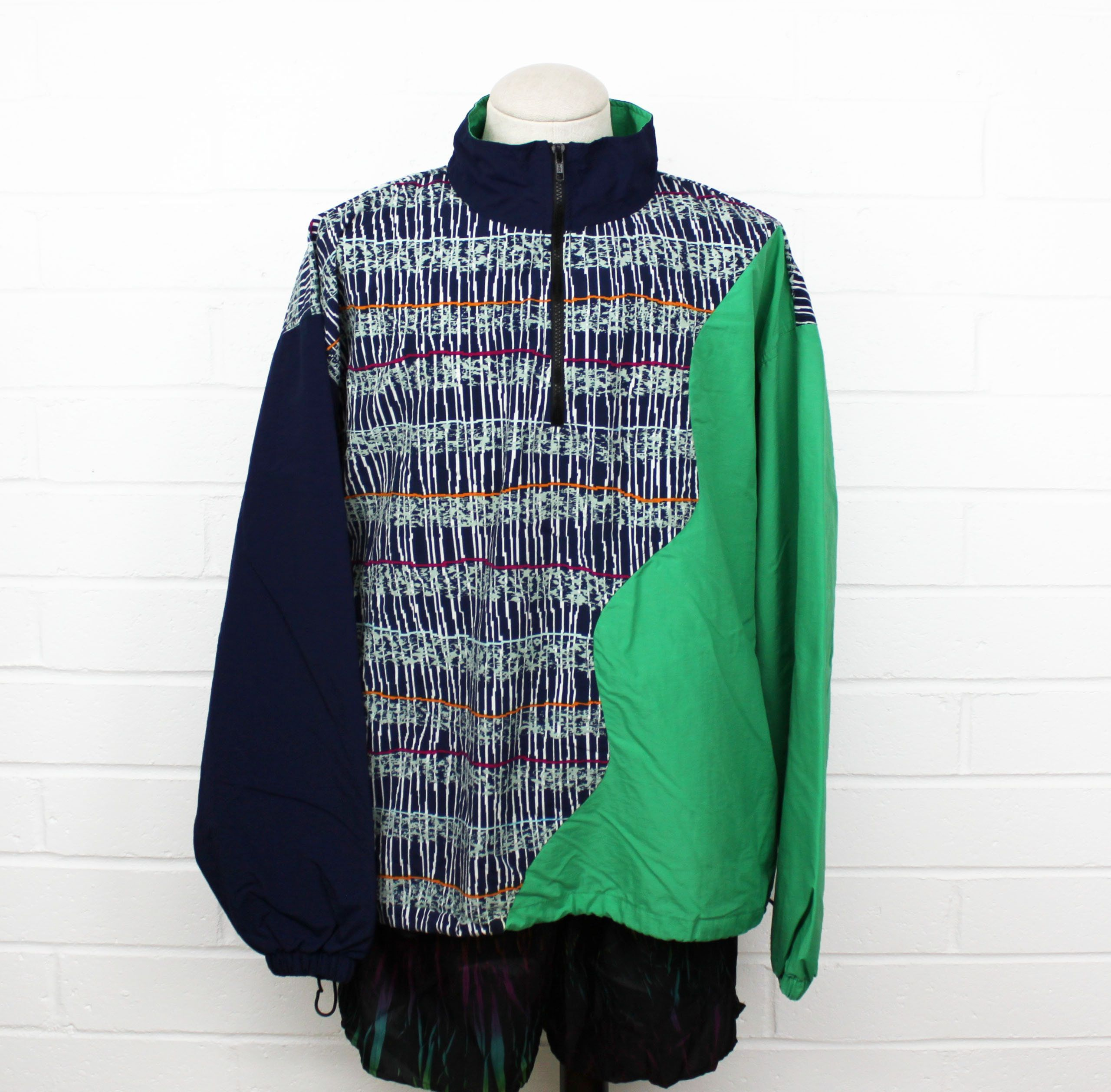 Vintage 90s Colorful Windbreaker Jacket Greg Norman Golf Light Etsy Windbreaker Jacket Colorful Windbreaker Jackets