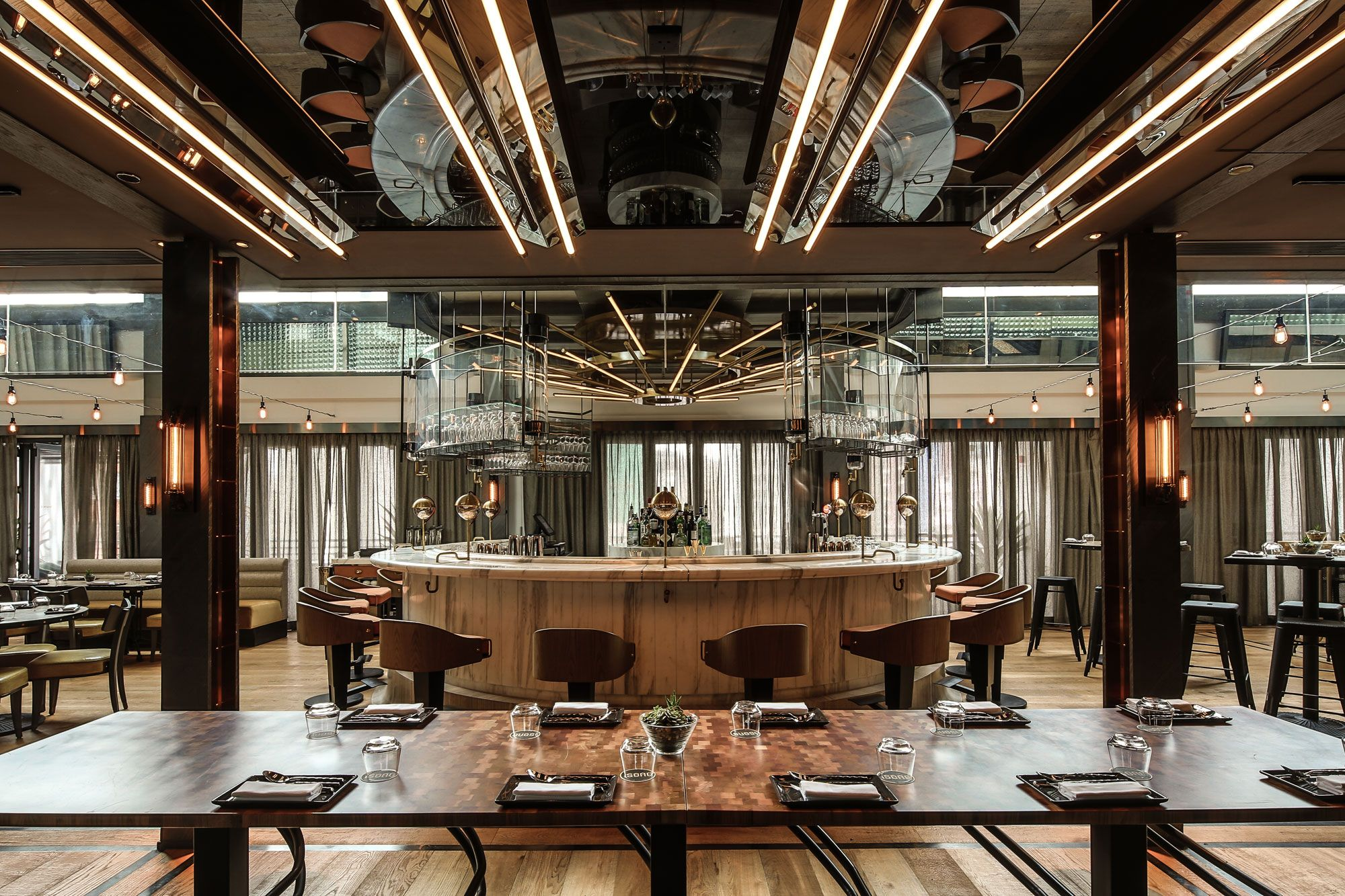 Uncategorized Spanish Restaurant Design wang isono vasco restaurant design pinterest restaurants two spaces share the spotlight at police married quarters pmq complex in hong kongs central district designed