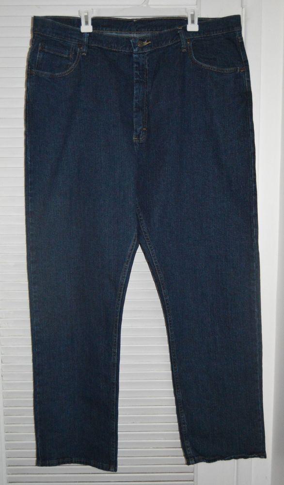 d2e0cd84e17 Mens Wrangler 4 Way Flex Advance Comfort Jeans Dark Wash Relaxed Fit 42x32  NWT #Wrangler #Relaxed