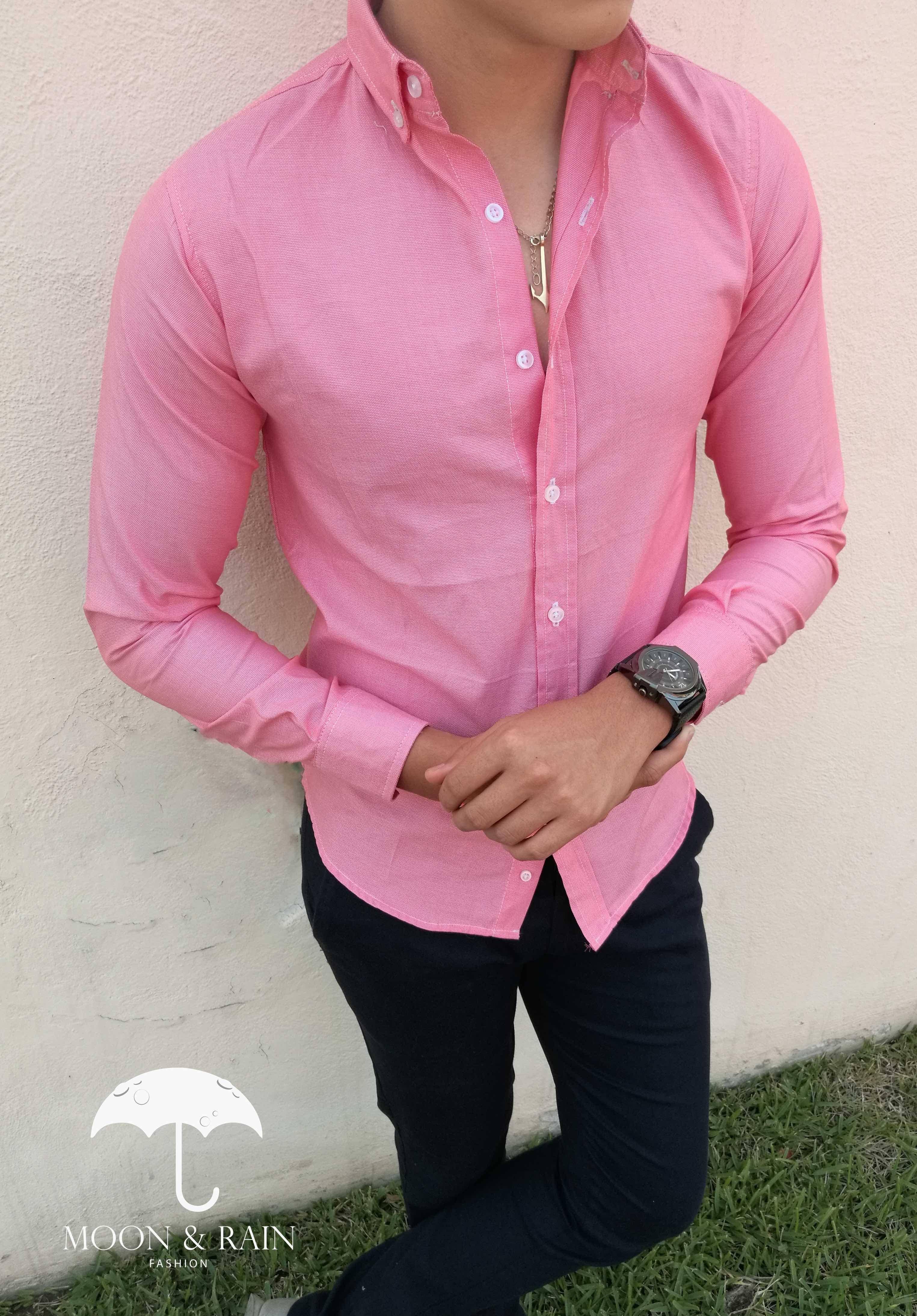 Camisa Slim Fit Mamey Lisa para hombre exclusiva de Tiendas Platino por  Moon   Rain  2309ead52a6fb