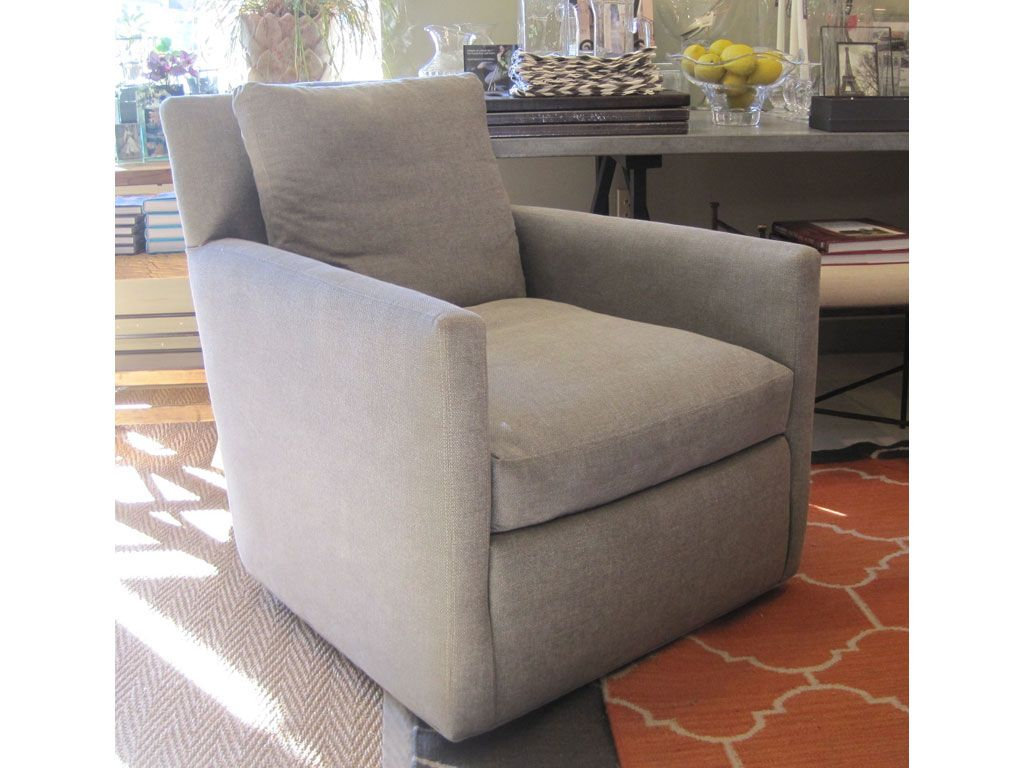 Madison Swivel Chair In Tote Putty By Lee Industries