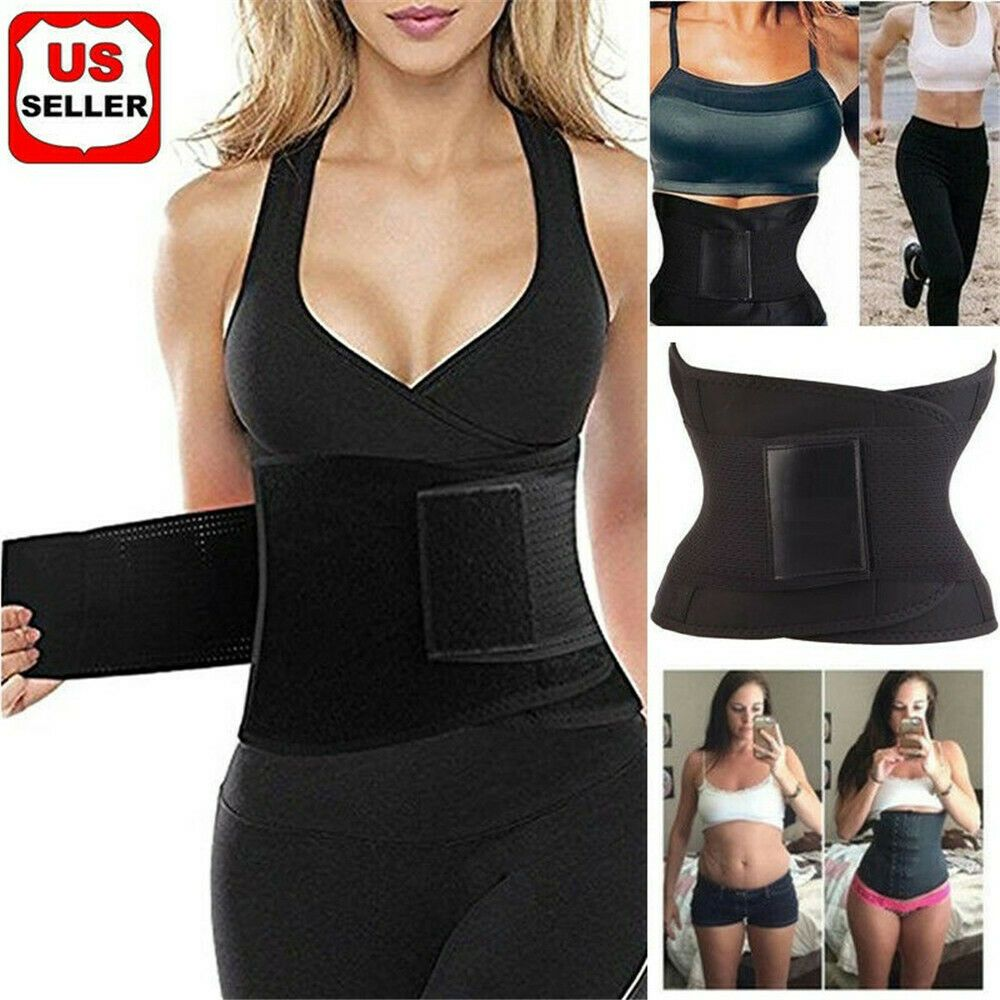 Hot Thermo Sweat Neoprene Body Shaper Slimming Waist Trainer Yoga Vest UK SELLER