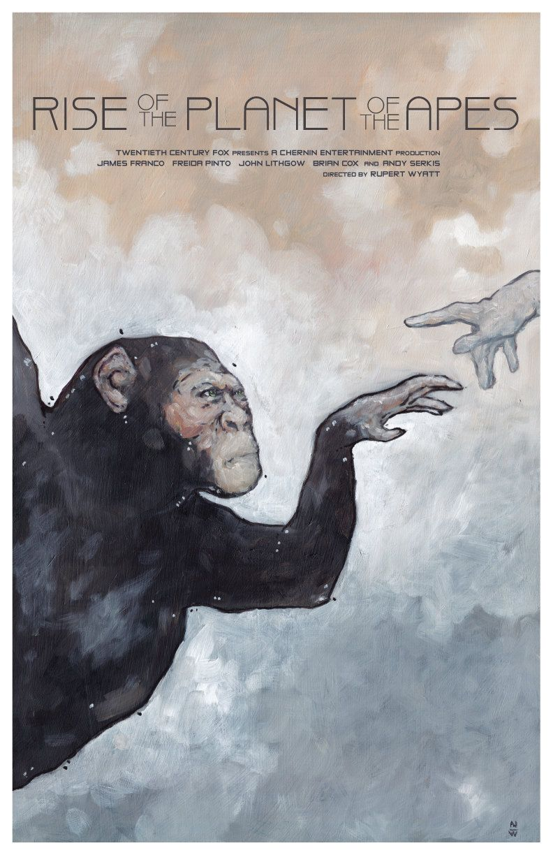 Rise Of The Planet Of The Apes By Rupert Wyatt Planet Of The Apes Movie Posters Design Minimalist Movie Poster