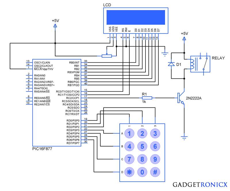 electronic code locking system using pic 16f877 mircocontroller rh pinterest com