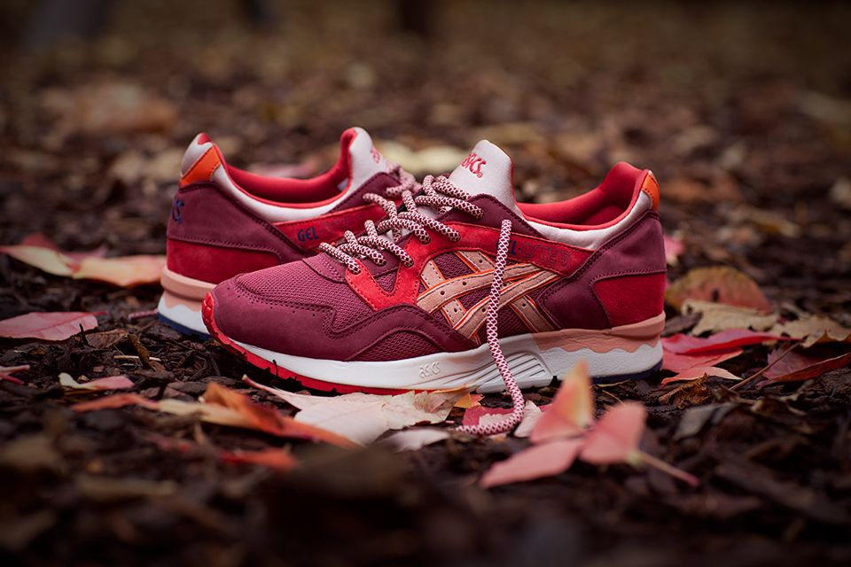 sneakers asics gel lyte v grey bordeaux