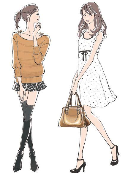 愛されファッション」レッスン |書籍イラスト