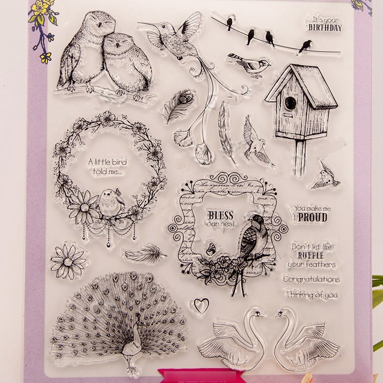 8.09$  Watch here - http://aliieq.shopchina.info/go.php?t=32764038402 - bird big size stamps for scrapbooking DIY farm sellos carimbo ACRYLIC clear STAMPS FOR PHOTO timbri SCRAPBOOKING stamp 8.09$ #SHOPPING