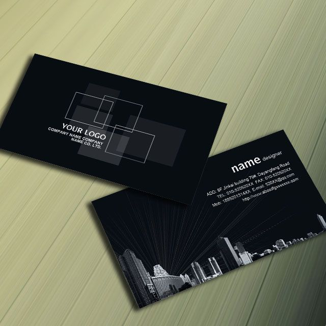 Architectural decoration decoration business card design PSD download #card#  http://weili