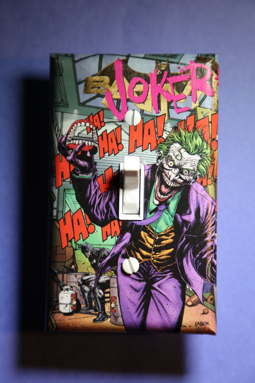 Arts and crafts switch plate covers - Joker Batman Light Switch Plate Cover Comic Book Bedroom Home Decor Dc Comics Superhero Villain Suicide