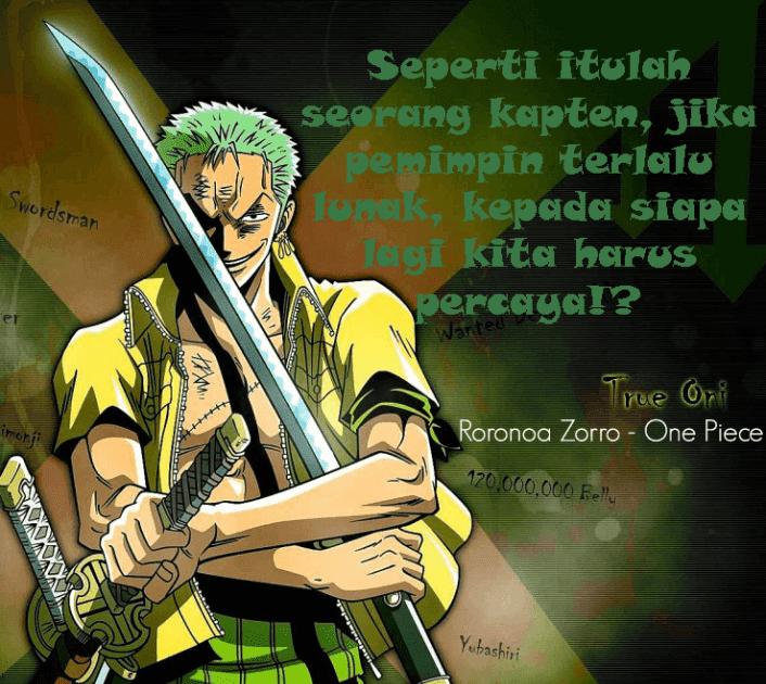 Kata2 Mutiara Zoro One Piece