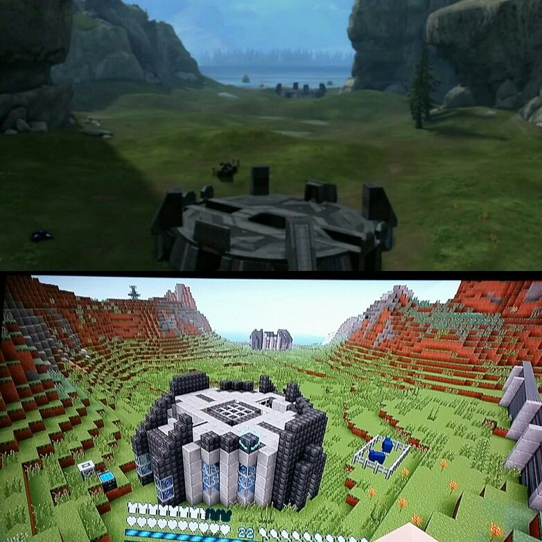 Halo bases for when you want to Halo but cannot escape Minecraft haha.