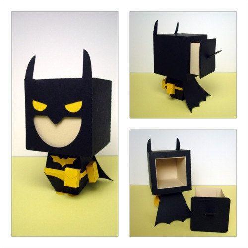Batman Inspired Gift Box by scissorsandclay on Etsy, $5.25 | Gift ...