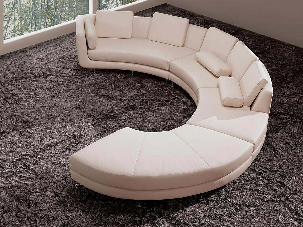 Large Round Curved Sofa Sectional Home Sofas Sectionals Leather Modern