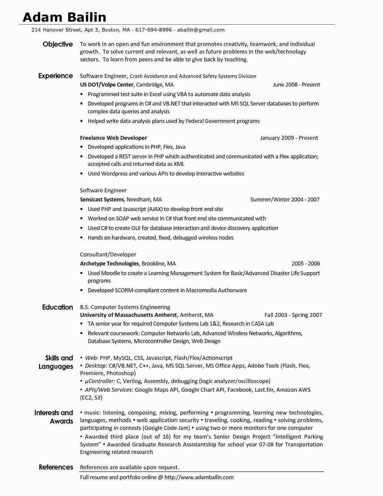Experience Resume Format For Xml Developer Resume Examples