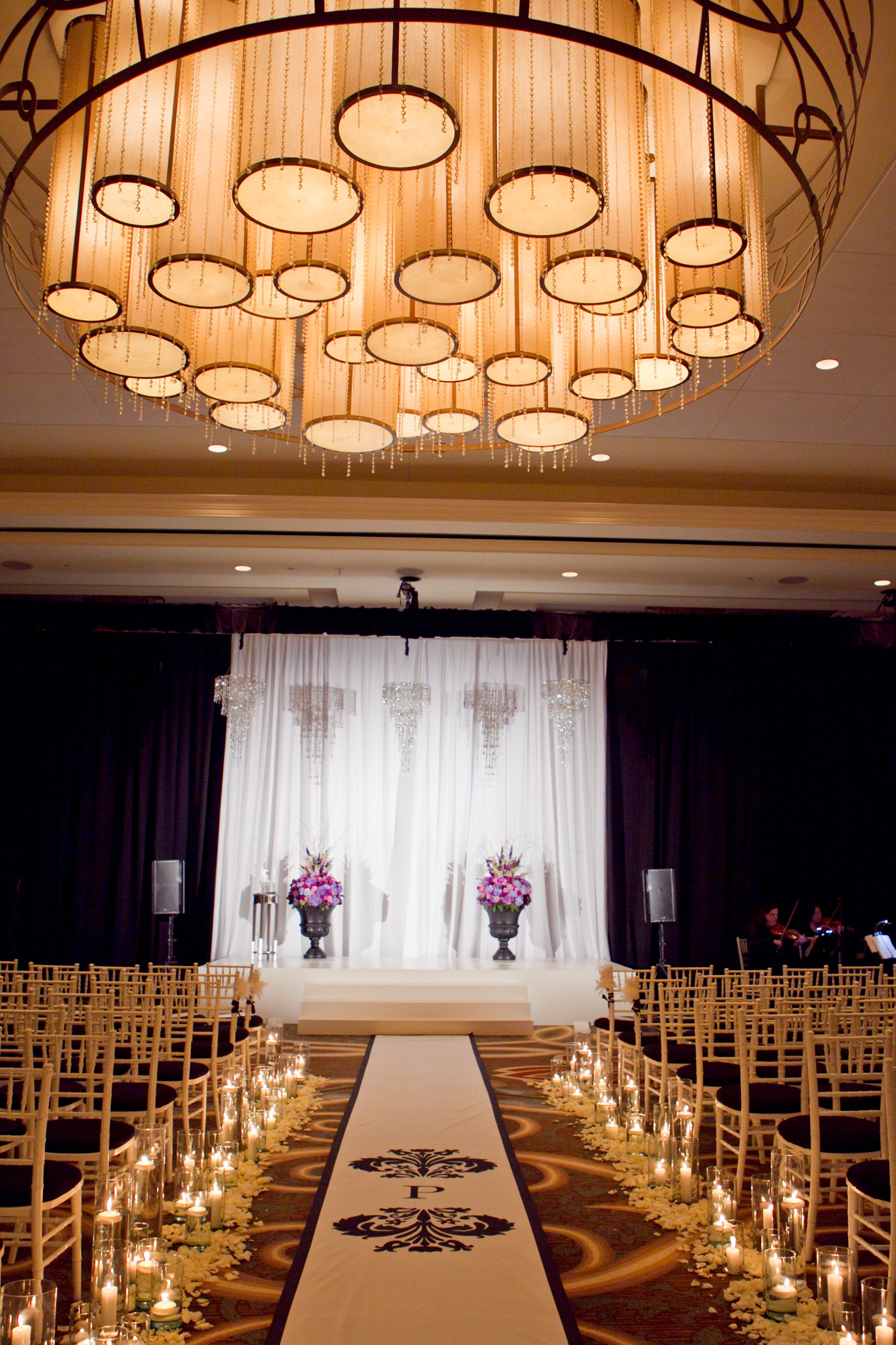 outdoor wedding venues dfw texas%0A Sweet candle lit ceremony at the  Omni Fort Worth Hotel