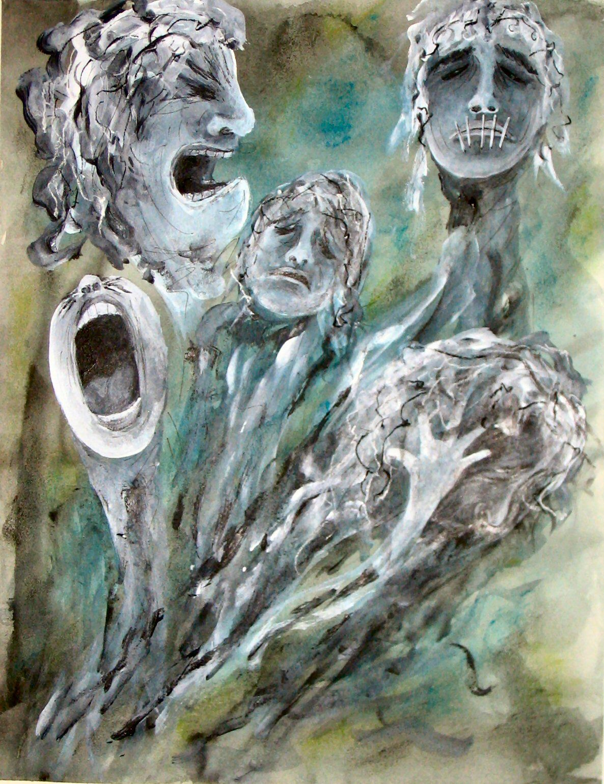 Five Faces Of Grief Image Inspired By An Experiential