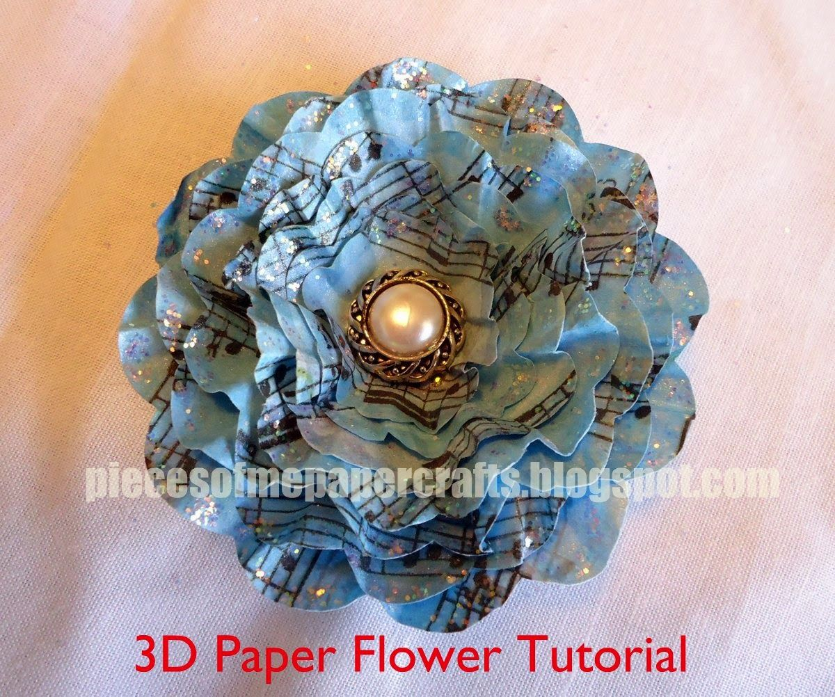 Paper flower tutorial tutorials for how 2s in scrapbooking paper flower tutorial jeuxipadfo Choice Image