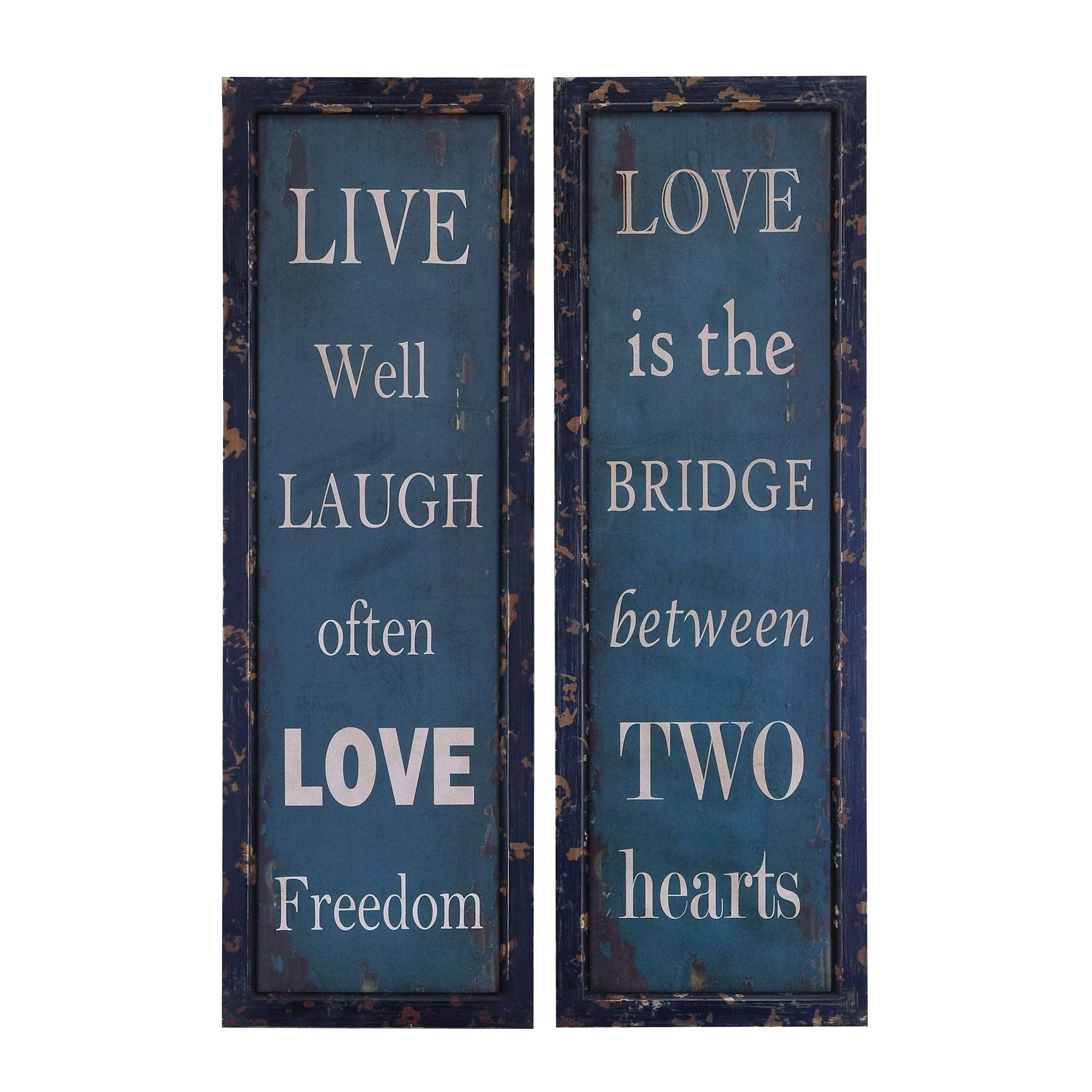 Life And Love Wall Plaque And Decor