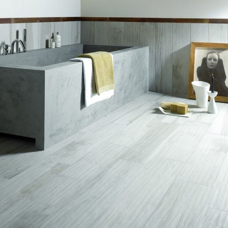Badezimmer Fliesen mit Beton Optik für minimalistische Gestaltung ...